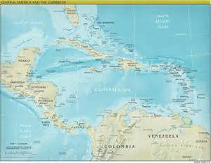 Central America Map Physical by Central America Continent Physical Mapsof Net