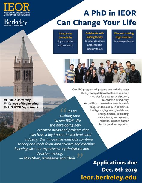 ieor phd prospective students information session uc berkeley ieor department industrial