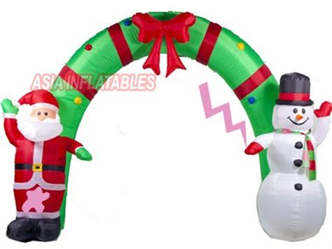 cheap prices inflatable christmas santa and snowman archway
