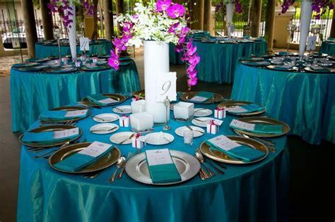 teal fuchsia wedding linen linens wedding
