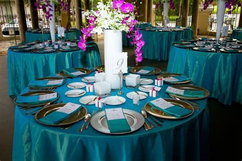 Teal Fuchsia wedding linen   Linens   Pinterest   Wedding