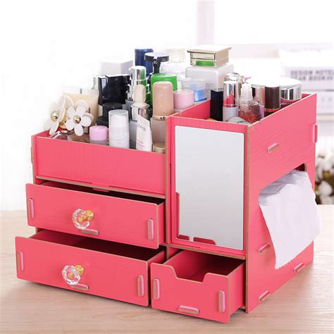 diy makeup organizer image of cheap makeup storage ideas aliexpress com buy fashion diy wood cosmetic organizer
