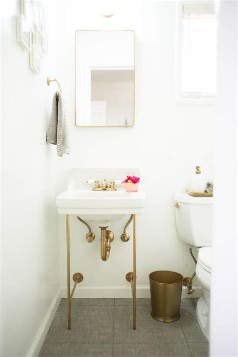 Diy Sink Vanity by Diy Gold Sink Vanity Transitional Bathroom