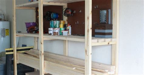 Diy Garage Storage Racks by Easy Diy Garage Shelving Hometalk