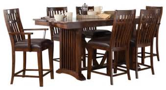 Standard Furniture Dining Room Sets Standard Furniture Artisan Loft 8 Counter Dining Room Set In Aged Bronze Traditional