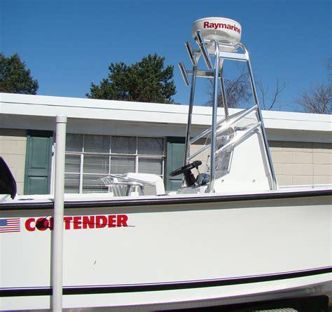 small center console boats radar arches on small center console boats the hull