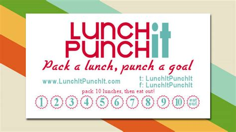 Lunch Card Template by Printable Lunch It Punch It Cards Reward You For Packing
