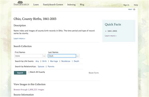 Ohio Birth Records 1800s A Sense Of Family Familysearch Adds More Ohio Birth Records