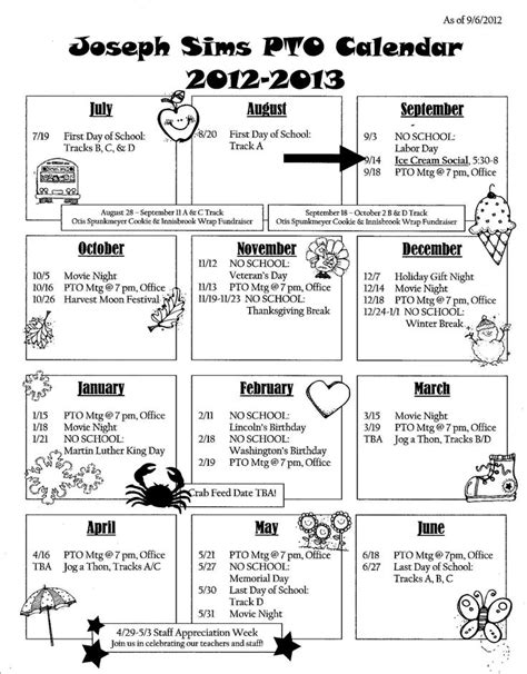 calendar newsletter school pto ideas pinterest calendar