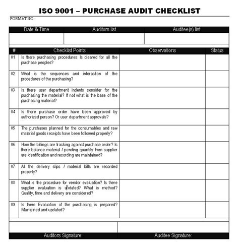 Iso 9001 Audit Report Exle