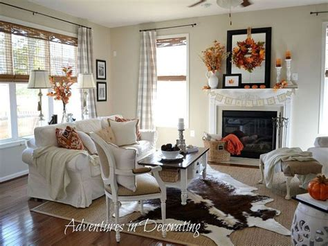 before and after an autumn inspired living room makeover