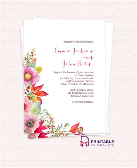 206 Best Images About Wedding Invitation Templates Free On Pinterest Invitation Templates Print At Home Invitation Templates