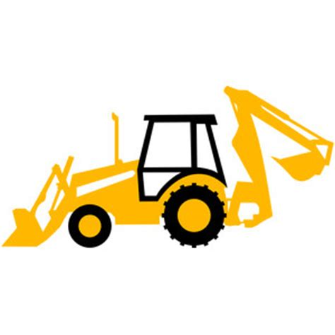 silhouette design store view design #113461: backhoe tractor