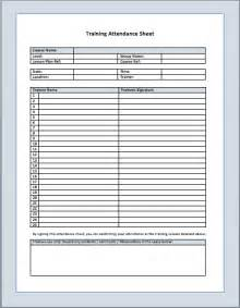 Sheets Templates by Attendance Sheet Template Printable Templates