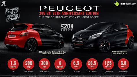 peugeot 208 gti 30th anniversary quick facts about peugeot 208 gti 30th anniversary edition