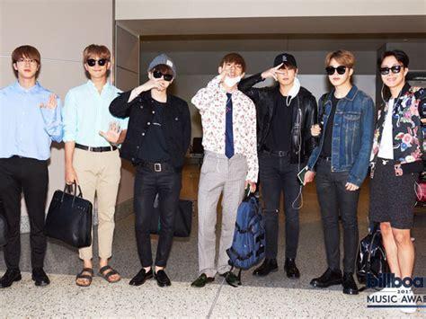 Celana Jin Bts Melorot intip harga airport fashion bts menuju acara billboard awards so fancy up station