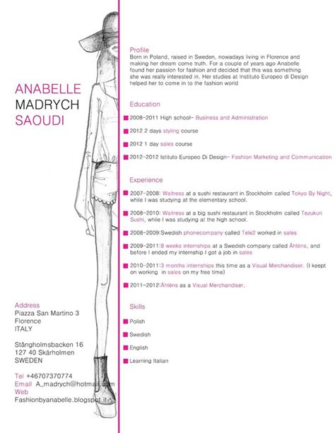 25 best ideas about fashion resume on fashion