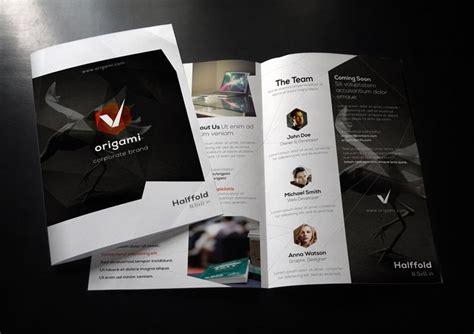 Bi Fold Paper - origami bi fold brochure template brochure templates