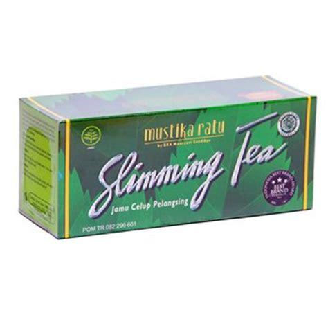 Pelangsing Mustika Ratu mustika ratu slimming tea 60 gram jamu celup pelangsing 30