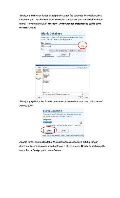 membuat form data siswa dengan accesss 2007 istiyanto com membuat form basis data dengan microsoft access