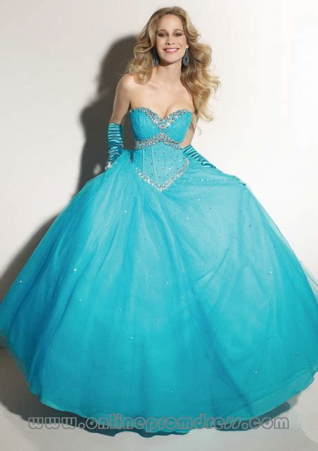 blue puffy prom dress puffy prom dresses