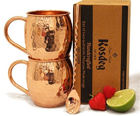 Bar Mugs Sale Moscow Mule Copper Mugs Set Of 2 Bar Spoon Included