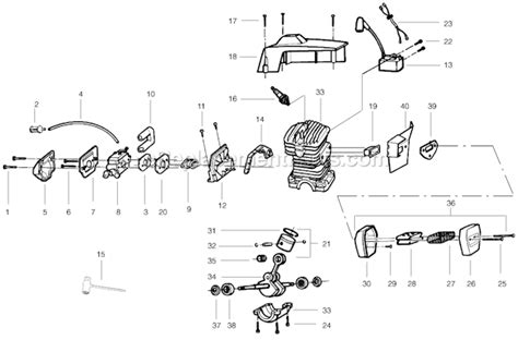 poulan pp295 parts list and diagram 2005
