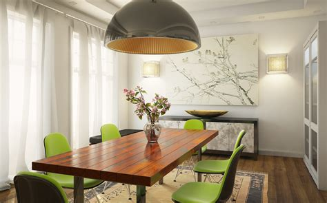 Green Dining Room Wall Fresh White Based Dining Spaces