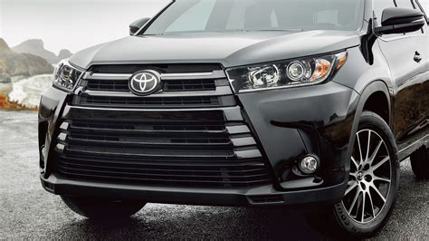 toyota highlander 2017 black black toyota highlander 2017 front view wallpapers and
