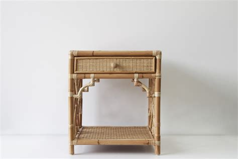 bedside table ls chippendale bedroom naturally rattan and wicker