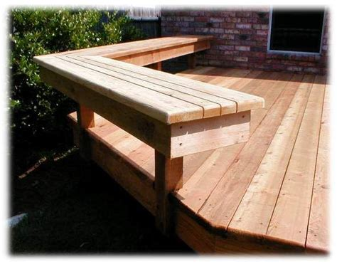 deck benches deck bench the perfect backyard pinterest