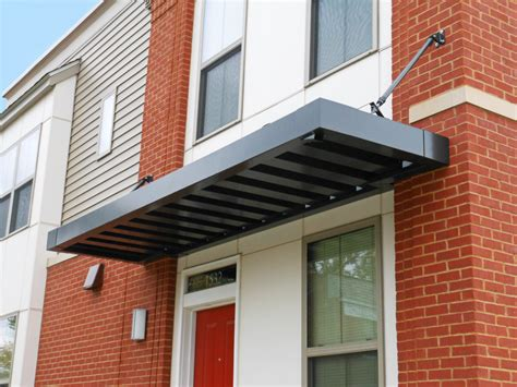 modern door awning architectural awnings gallery innotech manufacturing