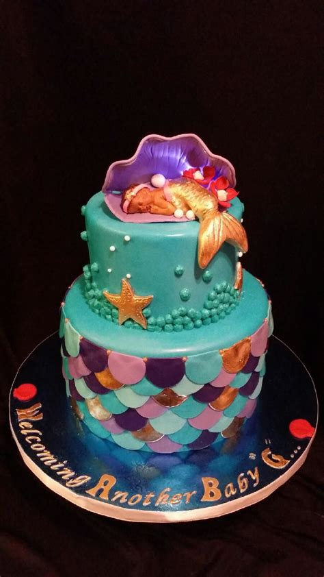Mermaid Baby Shower Cake by Mermaid Baby Shower Cake Cakecentral