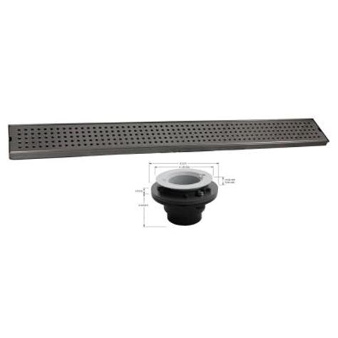 Linear Shower Drain Home Depot by Geotop Linear Shower Drain 48 In L In Brushed Satin