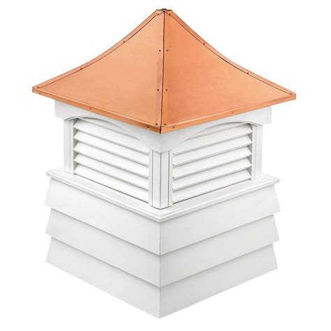 Copper Cupola Roof Directions Sherwood Vinyl Cupola With Copper Roof 18