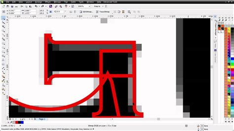 tutorial vector corel draw youtube maunally vector tracing fonts in coreldraw tutorial youtube