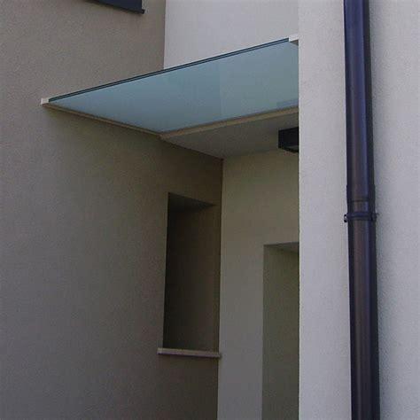 tettoia in vetro tettoia in vetro temperato con profili in alluminio su