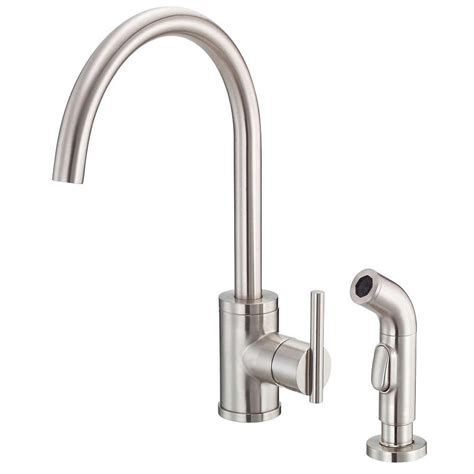 Danze Parma Kitchen Faucet by Danze Parma Side Mount Single Handle Side Sprayer Kitchen