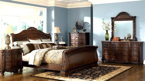 sleigh bedroom furniture sets bedroom furniture discounts ashley north shore 6pc sleigh