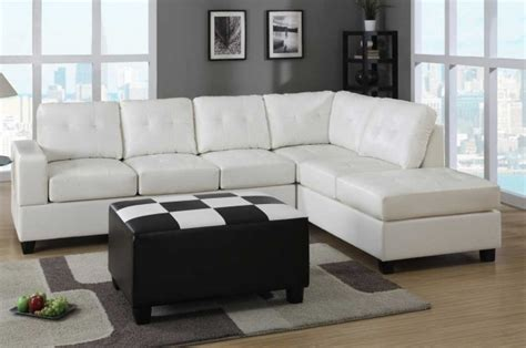 White Leather Sectional Sofa With Chaise White Leather Sectional With Chaise Lounge Photo 92 Chaise Design