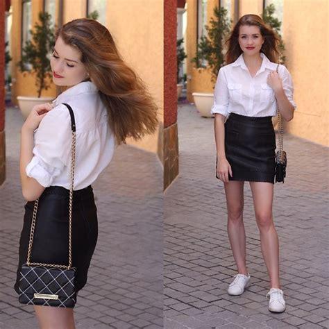 heidi landford aje black leather skirt big w white