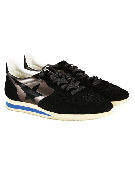 golden goose black sneakers golden goose deluxe brand haus suede and leather low top
