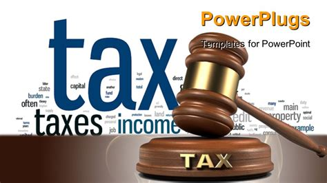 Gavel And Tax Word Writing On Sound Block Powerpoint Tax Ppt Templates Free