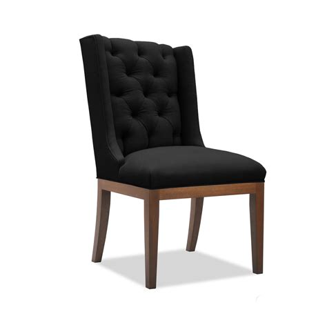 Linen Tufted Dining Chairs Nadina Tufted Linen Dining Chair