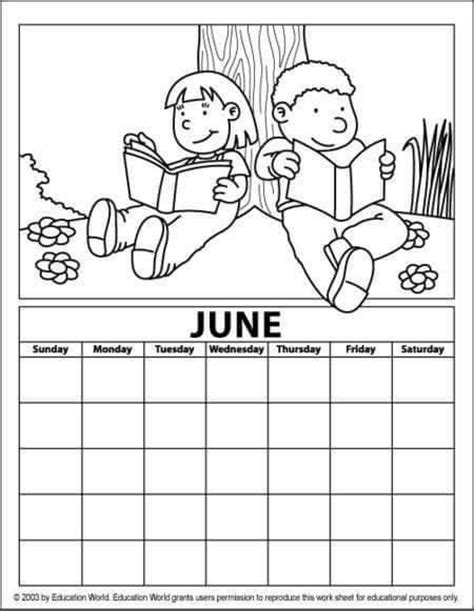 coloring pages for june june alendar coloring page 171 funnycrafts