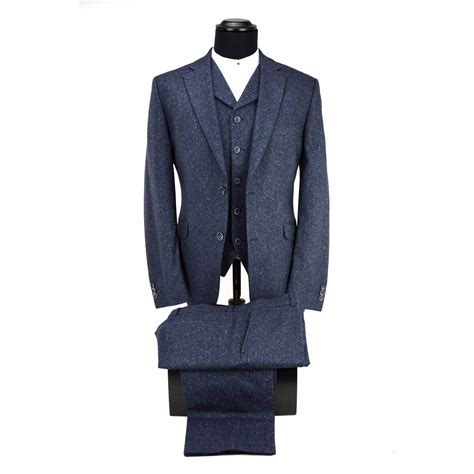 Suit 3 In 1 3 blue 3 suit peaky blinders inspired mod shoes