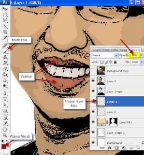 Bondarts Kerang Bibir Merah 5 Pcs foto dibuat kartun tutorial adobe photoshop