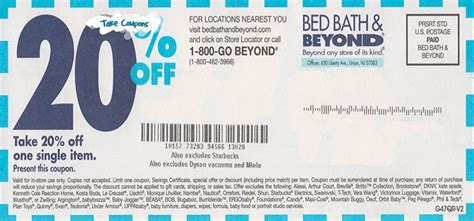 bed bath and beyond 5 00 off printable coupon get 20 off bed bath and beyond coupon and printable coupon