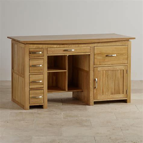 large solid oak desk tokyo large computer desk in solid oak oak furniture land