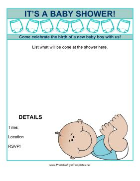 free templates for baby shower flyer baby shower flyer boy